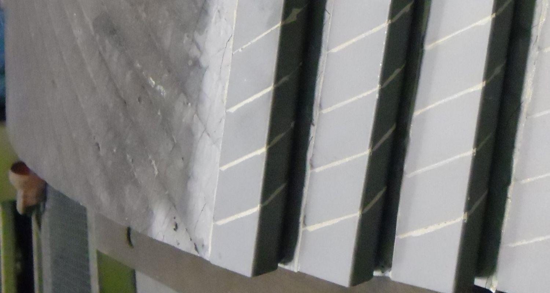Hardmetaal gesoldeerd op stalen ventilatorbladen