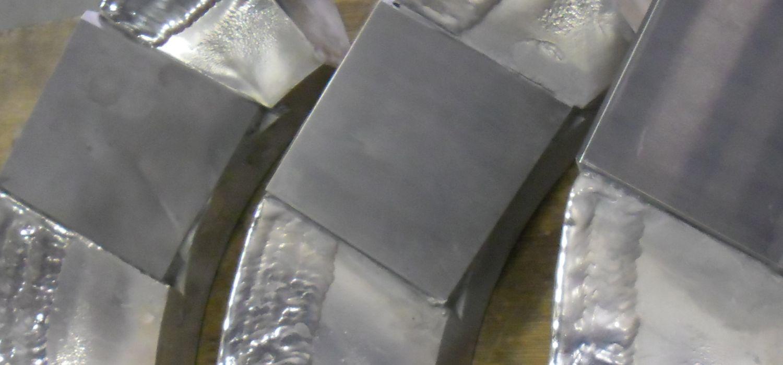 Slijtageplaat met hardmetaal ( rioolpomp).